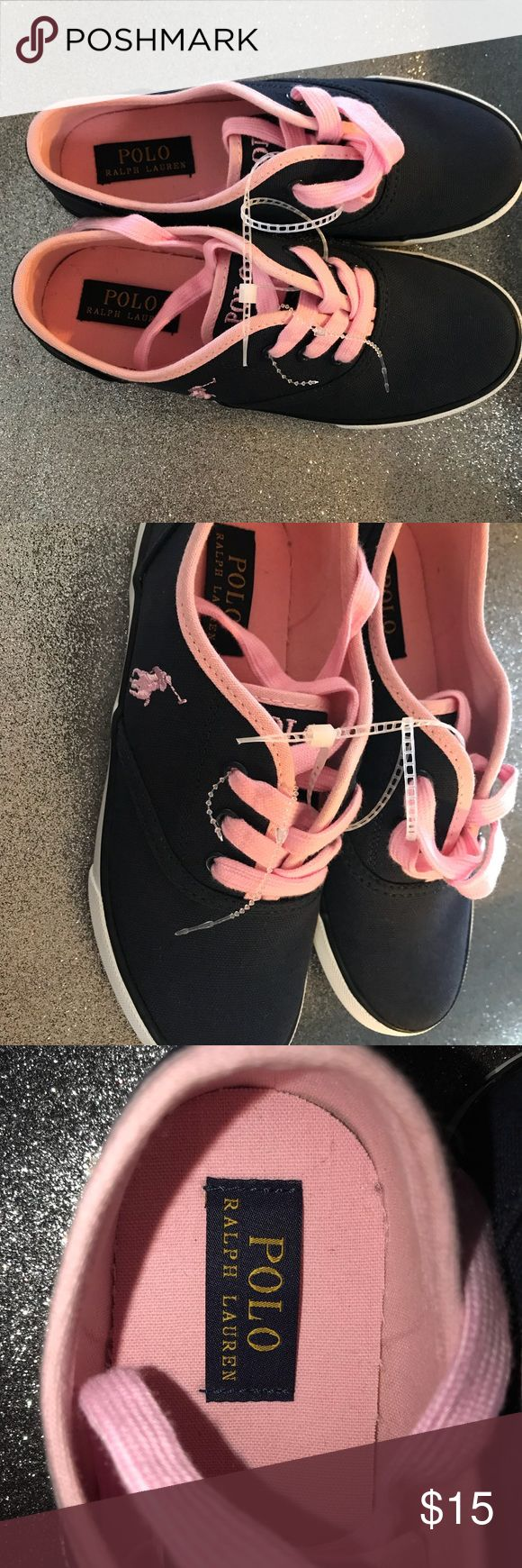 NEW girls Polo Ralph Lauren shoes New navy and pink girls shoes size 3 Polo by Ralph Lauren Shoes Sneakers