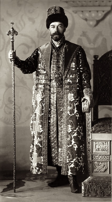 *** Tsar Nicholas II in his 17th century clothing as worn by Tsar Alexis nearly 300 years earlier. 1903, Winter Palace Ball, St. Petersburg.