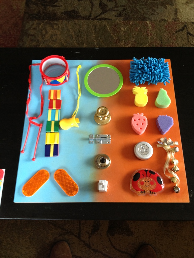 Activity board for 1year olds birthday!