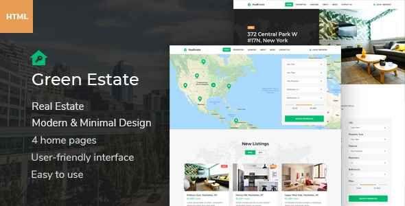 Green Estate Real Estate Html Template Free Download Download Estate Free Green Html Real Template Html Templates Templates Real Estate