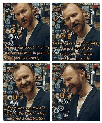 Mark Gatiss, killing people since childhood. <--This is so funny! This is why I <3 Mark Gatiss