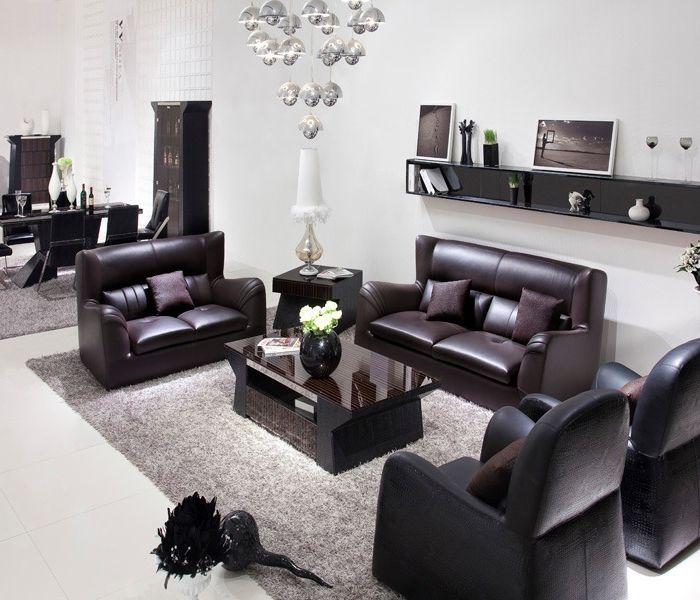 Dark Chocolate Couch and Loveseat Set