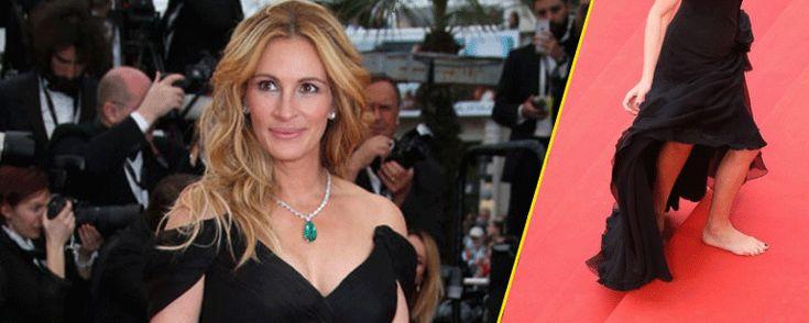 Cannes 2016: Julia Roberts en el centro de la polémica al pasearse descalza por la alfombra roja - Noticias de cine - SensaCine.com