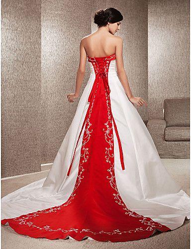 Vestidos de Novia Sencillos y Elegantes Rojos - Para Más Información Ingresa en: http://vestidosdenoviaeconomicos.com/vestidos-de-novia-sencillos-elegantes-rojos/