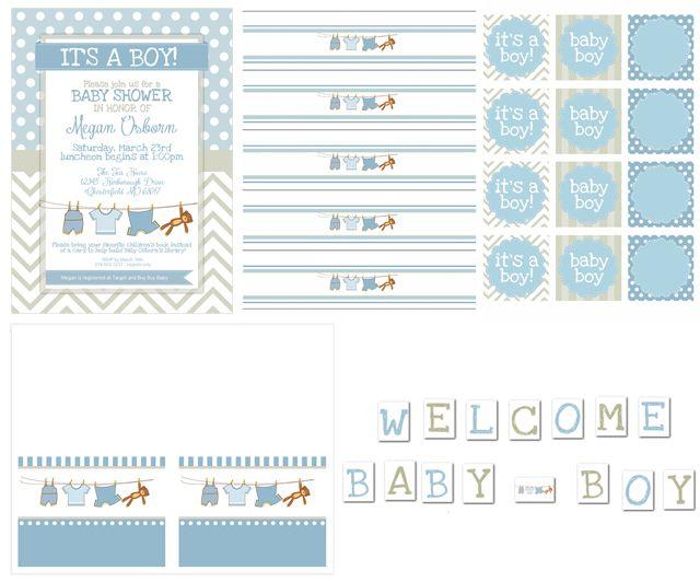 Boy Baby Shower Free Printables   baby shower   Pinterest   Baby boy ...
