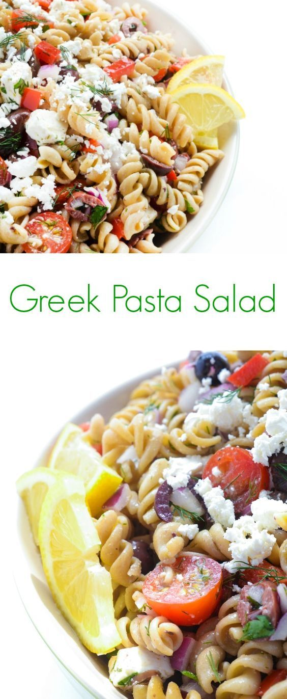Perfect for your next backyard BBQ or summer picnic, this Greek pasta salad recipe is filled with crunchy vegetables, creamy feta and tangy kalamata olives.