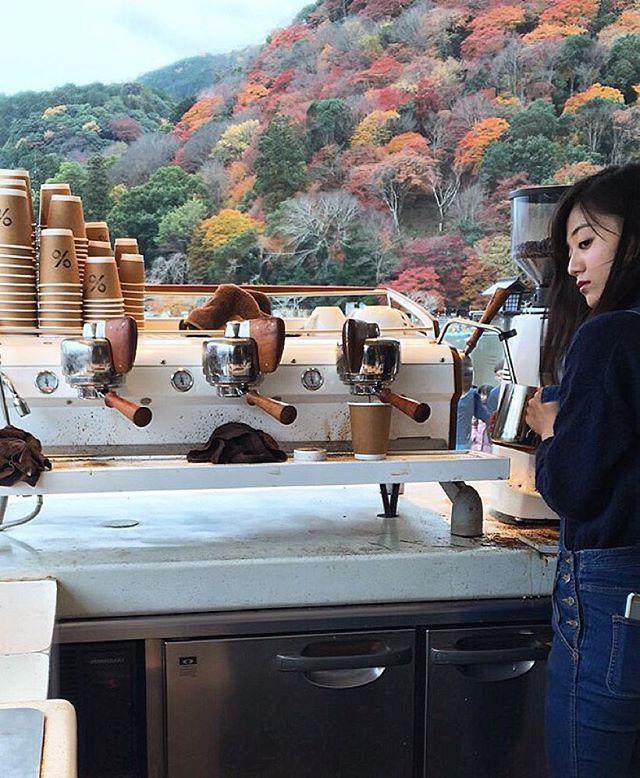 Last month in % Arabica Kyoto.  Arashiyama.  @arabica.coffee