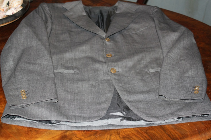 grey bird's eye spring suit
