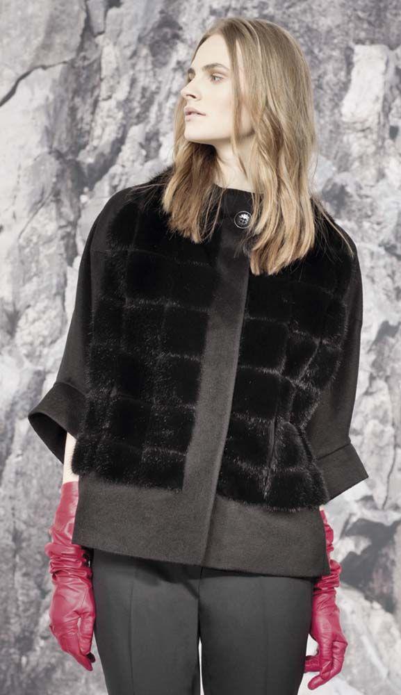 Women Fashion Winter Black Faux Fur Coat For Work Evening Date Night Outfits. #PangaeaTS #coatsjacketsvests #coatsjackets  #winterfashion  #winteroutfits  #coats #coatsforwomen #fauxfur #furcoat