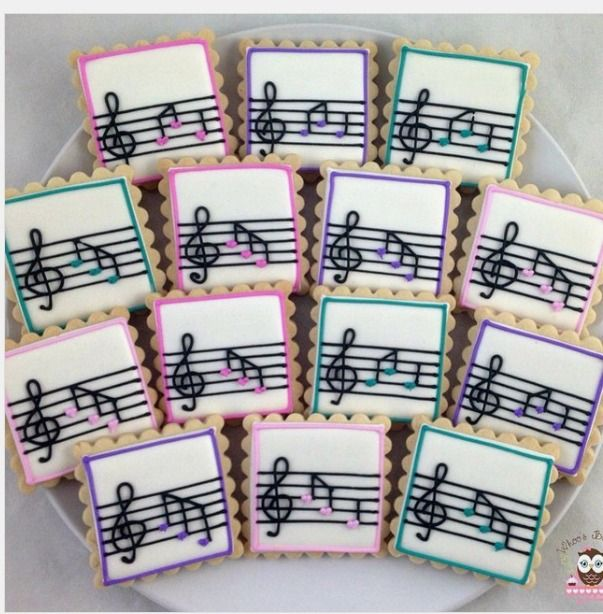 "Whoo's Bakery? on Instagram: ""Some sweet cookies for a music loving girl! #musiccookies"""