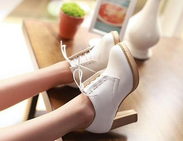 1000  ideas about White Heels on Pinterest | Black and white heels ...