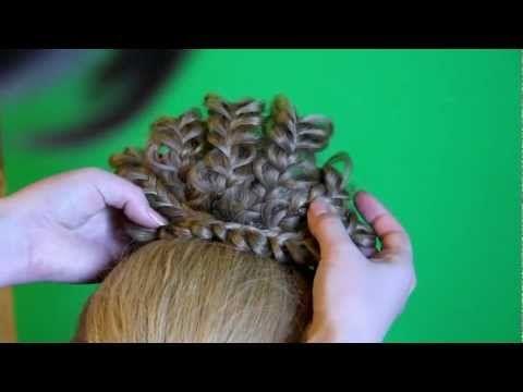Детская прическа с ажурными косами
