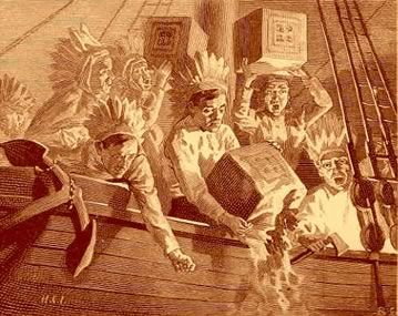 The Boston tea party occurred on 1773. Colonists dressed as Native Americans and dumped 342 crates of tea into the harbor. This made England furious.