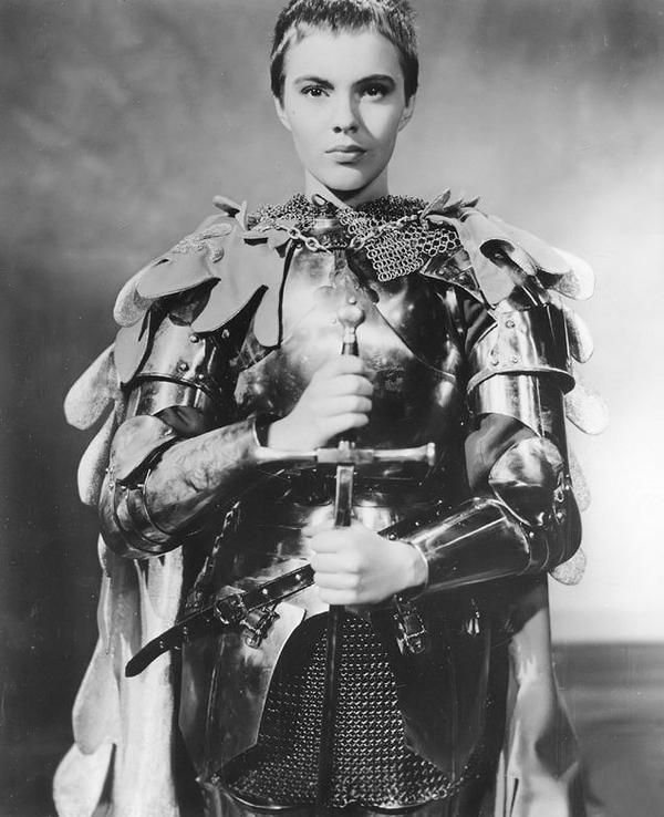 Jean Seberg in Saint Joan (also called Bernard Shaw's Saint Joan) a 1957 British-American film adapted from the George Bernard Shaw play of the same title