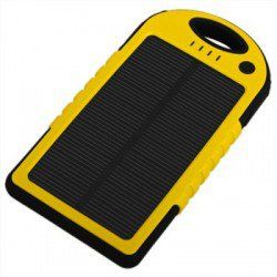 YD-T011 5000mAh Water-proof Solar Charger Mobile Power Bank with Carabiner for iPhone 4 / 4S / 5 / 5S / 5C , iPod , iPad , Samsung Galaxy S4...