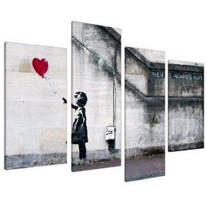 Banksy Canvas Street Art Banksy - Wall Deco Canvas Prints