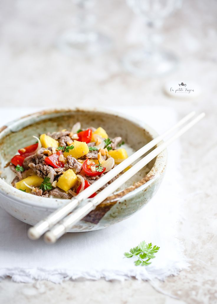 Straccetti di manzo all'ananas e pomodoro #di Giovanna Hoang #Fuudly #ricette