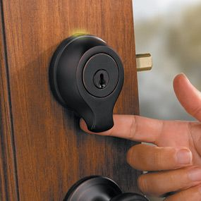 Biometric keyless locks let you unlock or lock your entry door with just a quick scan of your fingerprint--who knew!