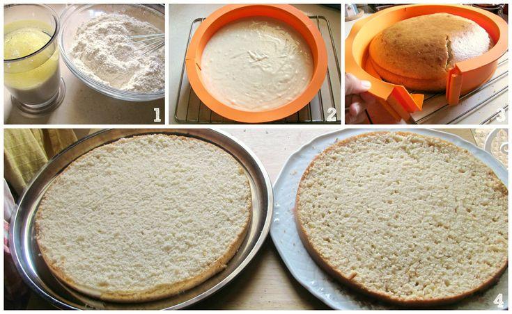 Pan di spagna senza zucchero senza uova senza burro