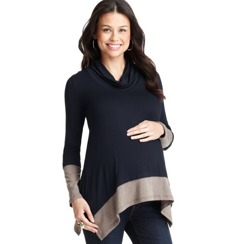 Loft - Maternity Clothes: Maternity Apparel, Dresses, Tops, Maternity Bottoms: LOFT - Maternity Colorblocked Long Sleeve Top by Maternal America