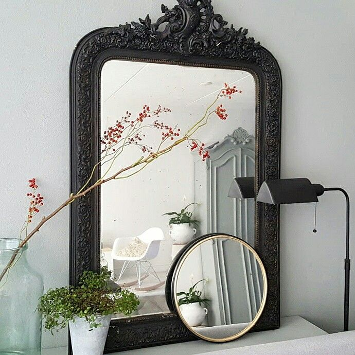 My mirrors behind the couch Living October 2016