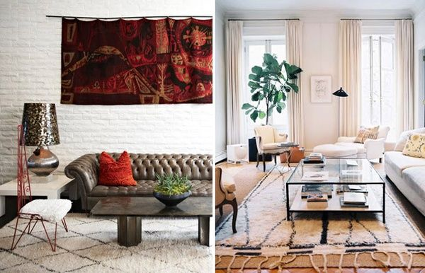 moroccan home: Living Rooms, Ourain Rugs Yes, Moroccan Rugs, Coffee Table, Irresistable Interiors, Ouraini Rugs, Layered Rugs, Interiors Livingroom, Ouarain Rug