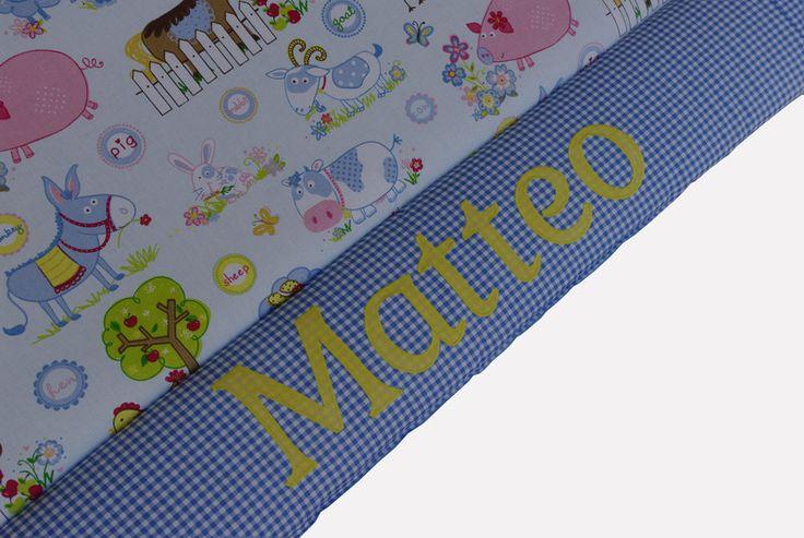 Babydecken -  Dicke Krabbeldecke Bauernhoftiere mit Namen - ein Designerstück von EuleLulu bei DaWanda