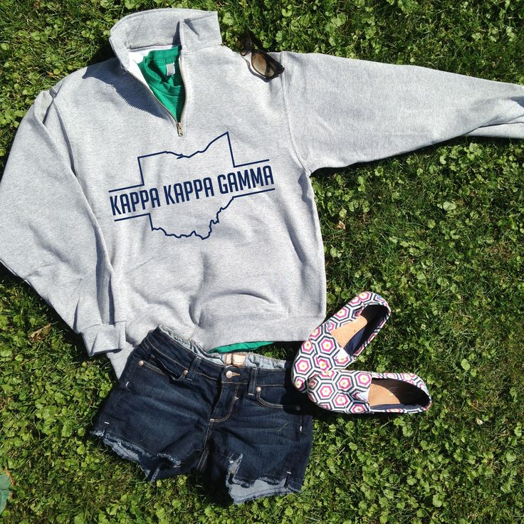 Quarter-zips are the perfect way to get ready for fall!   Kappa Kappa Gamma   Made by University Tees   www.universitytees.com