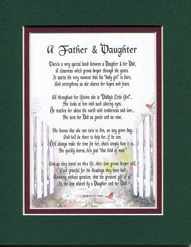 A Father And Daughter Poem- Fathers Day gifts for dad from daughter