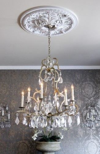 silver and grey damask wallpaper~gorgeous