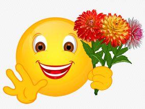 Smiley mit Dahlie | Smiley, Lustiges emoji, Animierte