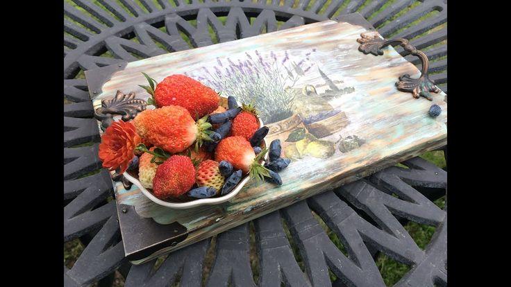 Декорирование подноса. (Decoration of the tray).