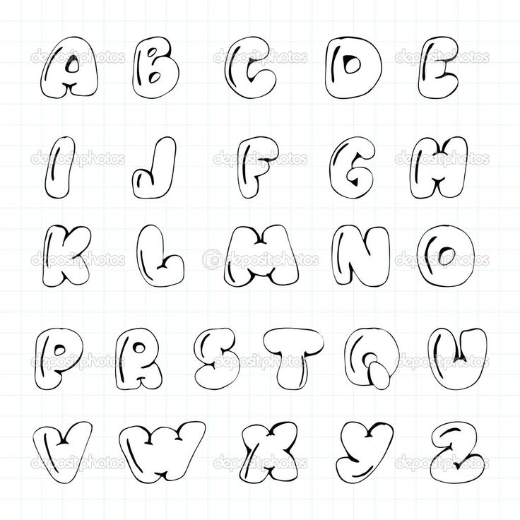 Lettering Fonts Alphabet Bubble Letters