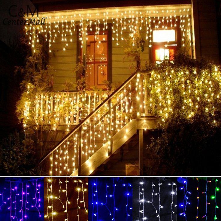 Jeu de lumières De Noël en plein air décoration Intérieure 3.5 m Droop 0.3 0.5 m rideau glaçon chaîne led lumières Garden Party 110 220 V dans LED Chaîne de Lumières et Éclairage sur AliExpress.com | Alibaba Group