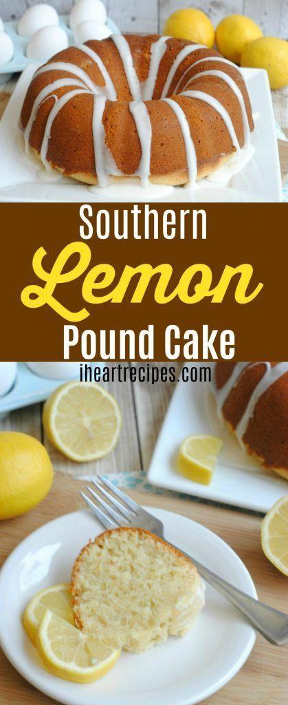 Southern Lemon Pound Cake   I Heart Recipes #Southernfood #comfortfood #lemon #dessert #recipes #treats #sweets