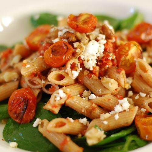 Lekkere gezonde vegetarische speltpasta - Amber Albarda
