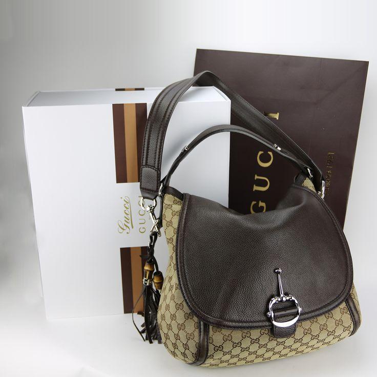 1eb47d4f2b06 Sac à main   sac à bandoulière Gucci Authentique d occasion en toile  monogram et