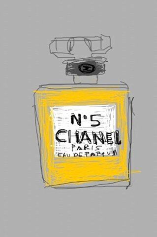 I would love to do a collection of sketches like this Chanel No5 bottle, for my home.