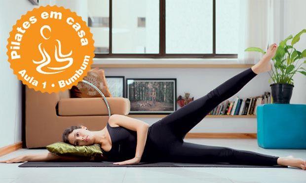 Pilates em casa: série fácil para ficar com o bumbum durinho e empinado