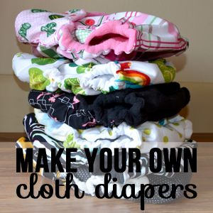 Make your own cloth diapers. This is a great fitted diaper tutorial. However it describes a newborn size, not one size pattern.