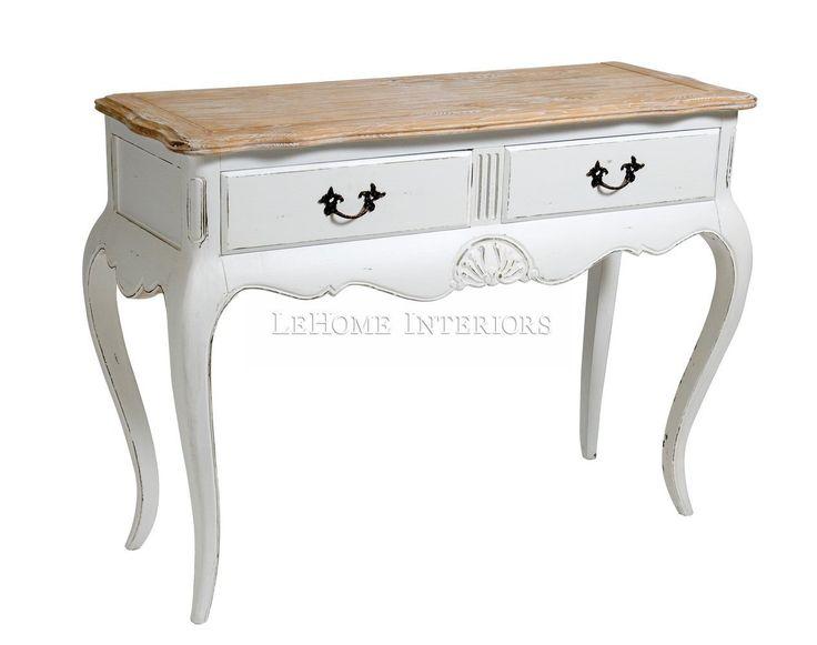 Консоль  Royal Console. Консоль в стиле французский Прованс с витыми ножками и с 2-мя ящиками для хранения. Украшена декоративной резьбой. Может использоваться как будуарный столик.