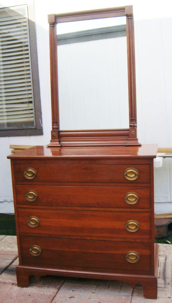 Dresser With Mirror Willett Cherry Wood