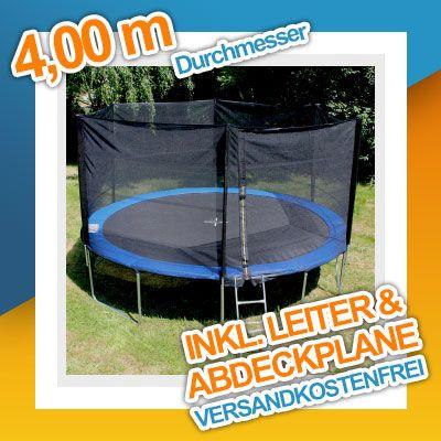 Trampolin 2,50m - 4,90m Gartentrampolin Komplettset mit Leiter & Sicherheitsnetz   eBay