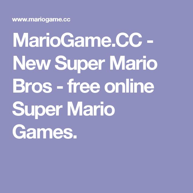 MarioGame.CC - New Super Mario Bros - free online Super Mario Games.