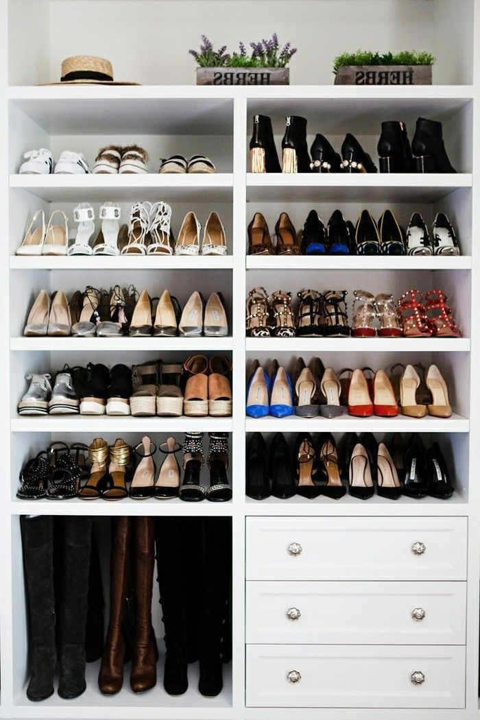 Schuhschrank selber bauen – eine kreative Schuhaufbewahrung Idee – Archzine.net  #Schuhaufbewahrung