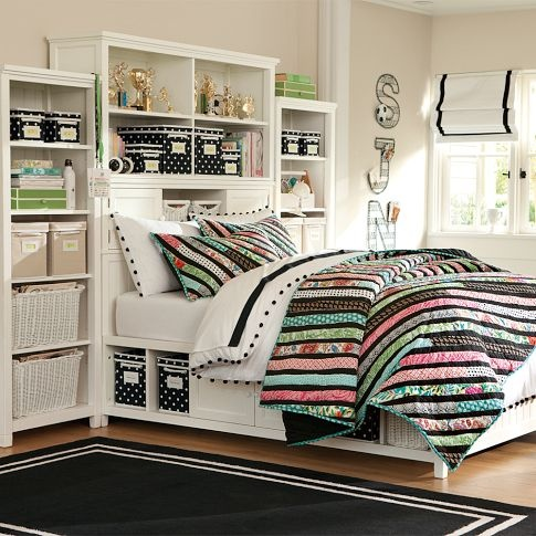 LOVE this print!: Dreams Bedrooms, Teen Rooms, Dreams Rooms, Beds Storage, Bedrooms Headboards, Teen Girls Bedrooms, Storage Ideas, Bedrooms Ideas, Girls Rooms