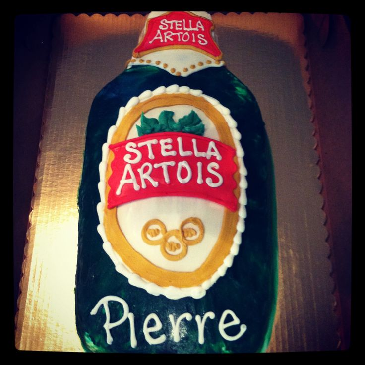 Stella beer bottle cake