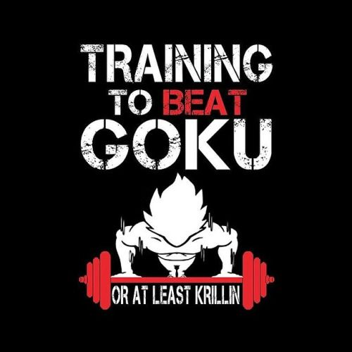 Training to beat Goku or at least Krillin. #fitnessmotivation  #goku