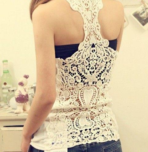 Bottoming Vest Back Lace Crochet