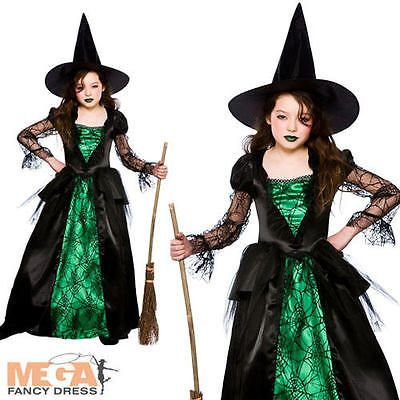 Deluxe emerald witch #girls fancy #dress halloween child kids #witches costume , View more on the LINK: http://www.zeppy.io/product/gb/2/361060406596/